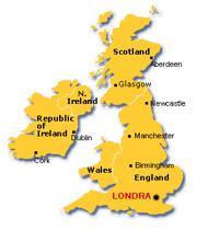 Londra - Mappa dell inghilterra per i bambini ...